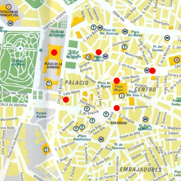 Mapa Tour Madrid Free